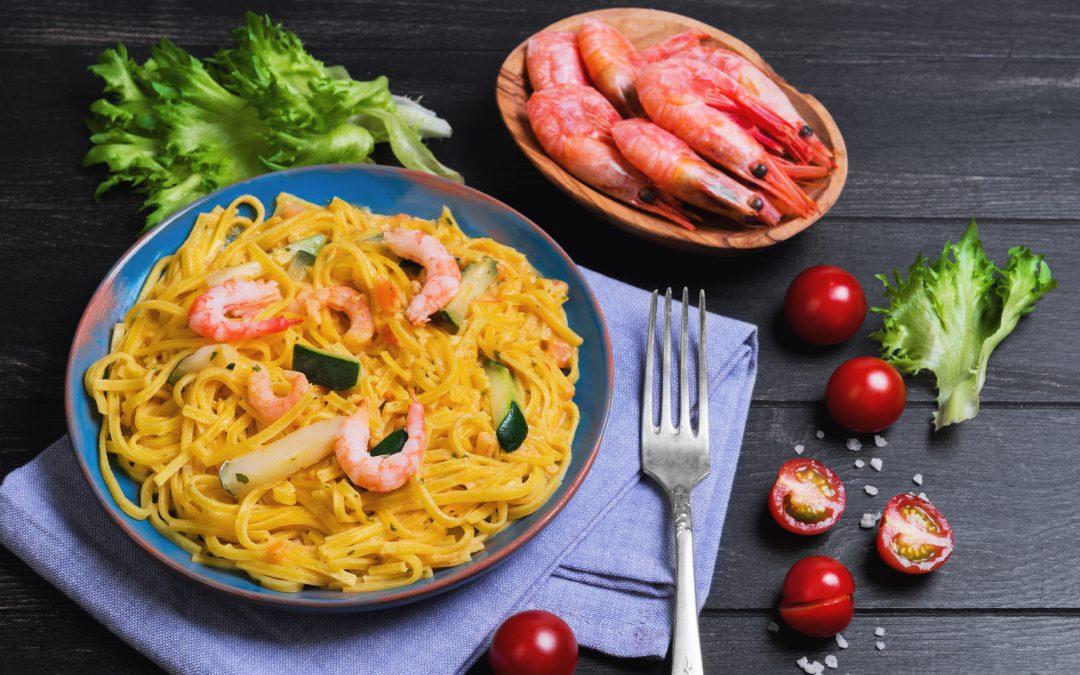 Curry-Nudeln mit Garnelen Rezept