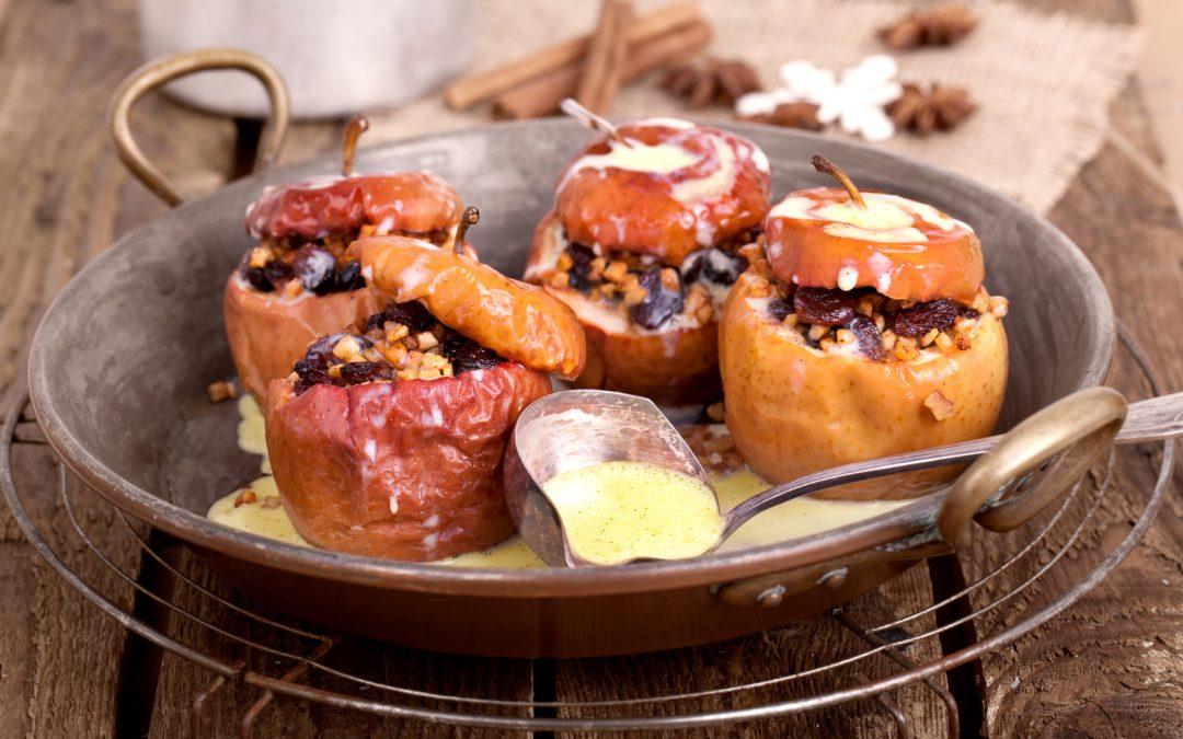 Lebkuchennudeln mit Bratapfel und Vanillesoße Rezept