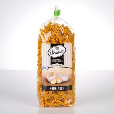 Verpackung Gewürznudeln Knoblauch Pastatelli