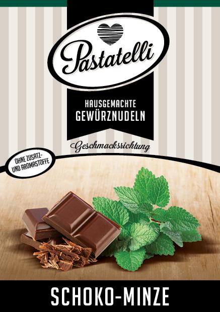 Schoko-Pfefferminz-Nudeln
