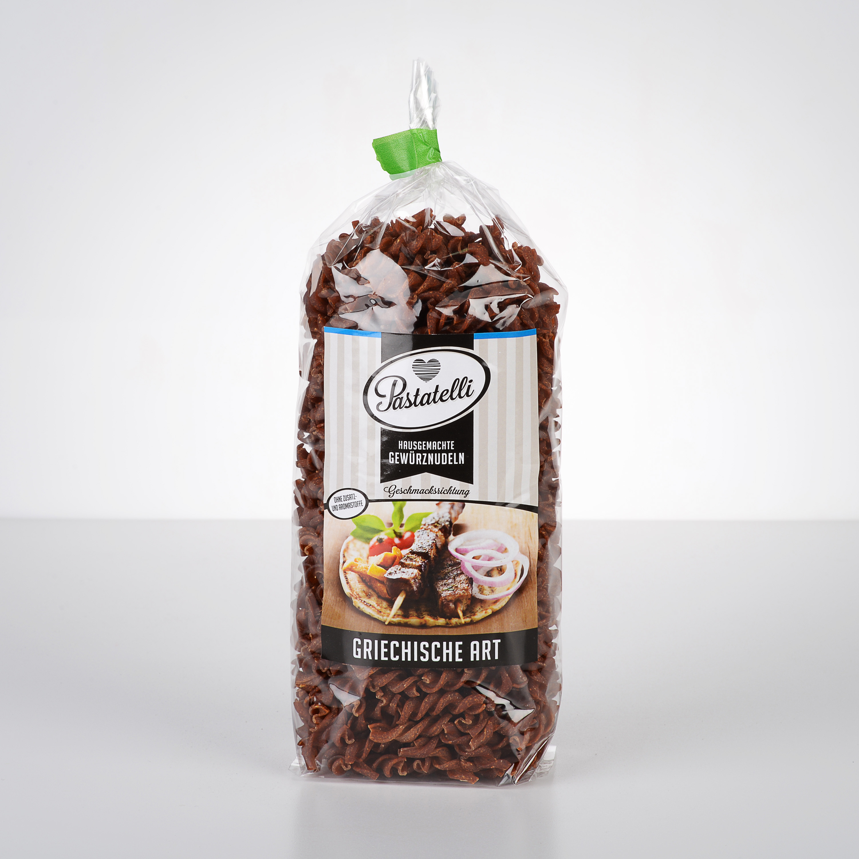 Verpackung Gewürznudeln Griechische-Art Pastatelli