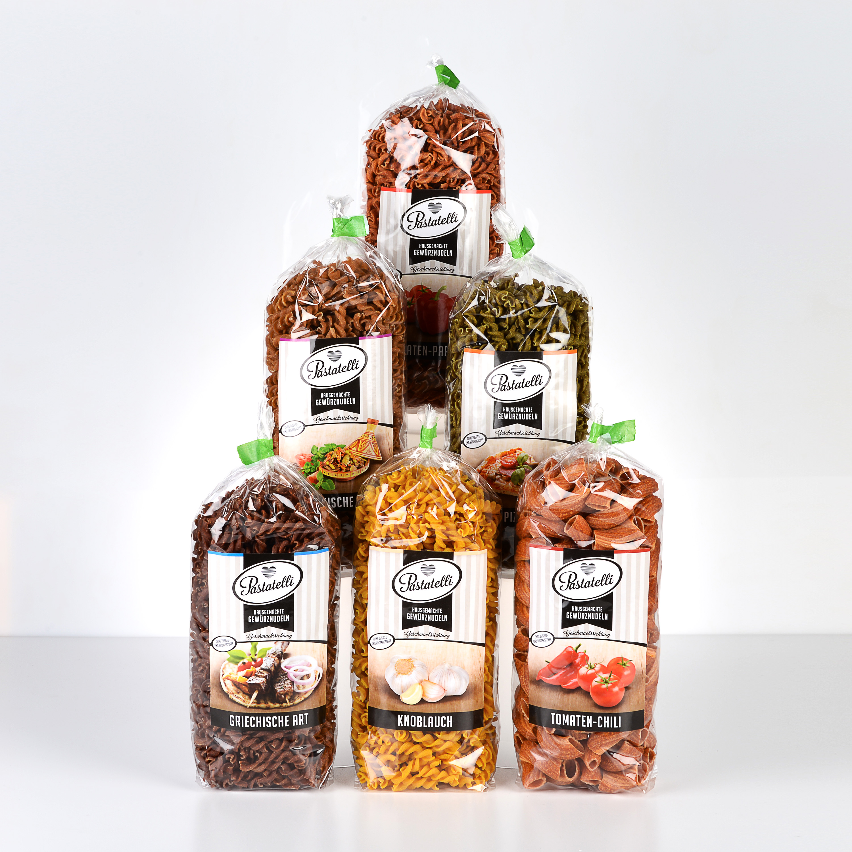 Verpackung Gewürznudeln Klassiker-Paket Pastatelli