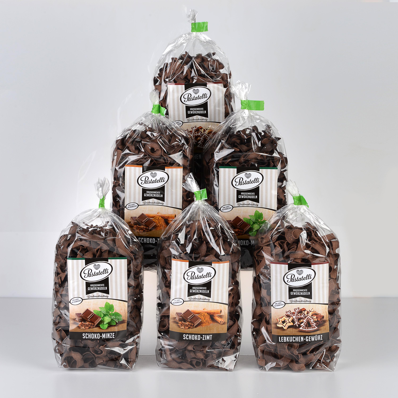 Verpackung Gewürznudeln Naschkatzen-Paket Pastatelli
