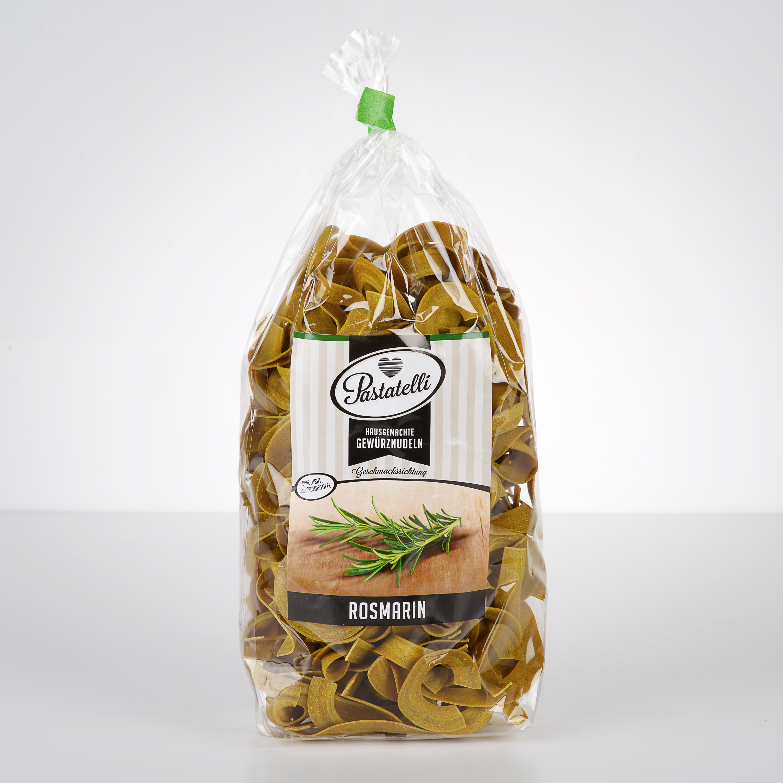 Verpackung Gewürznudeln Rosmarin Pastatelli