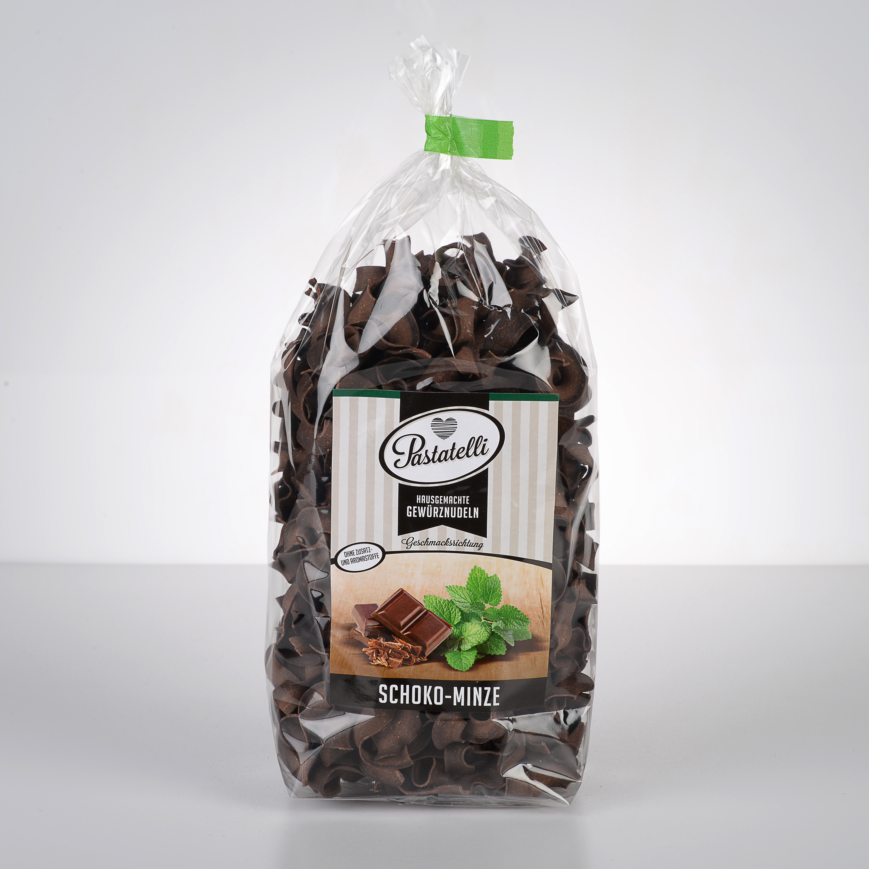 Verpackung Gewürznudeln Schokolade-Minze Pastatelli