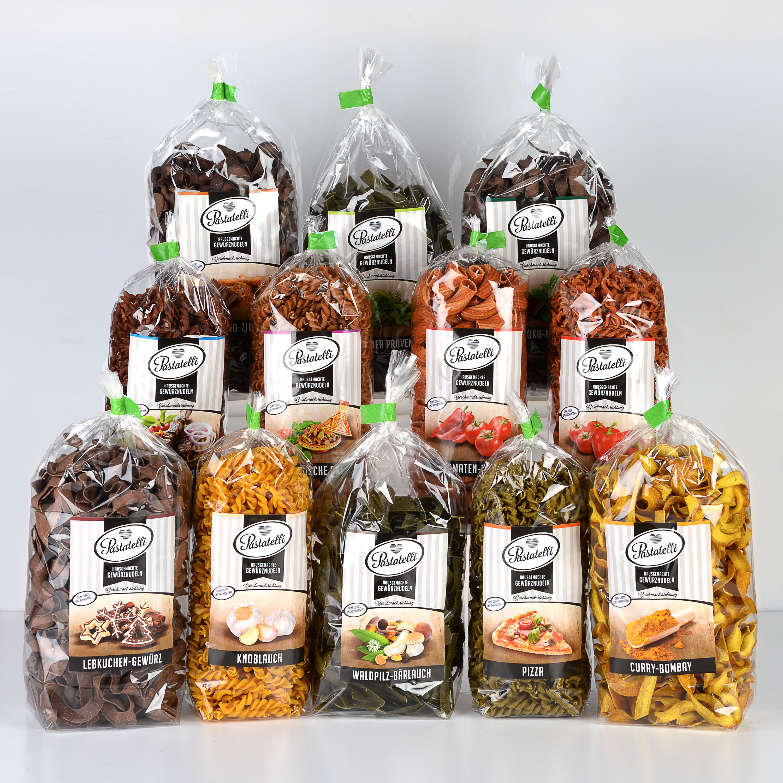Verpackung Gewürznudeln Testpaket-Mittel Pastatelli