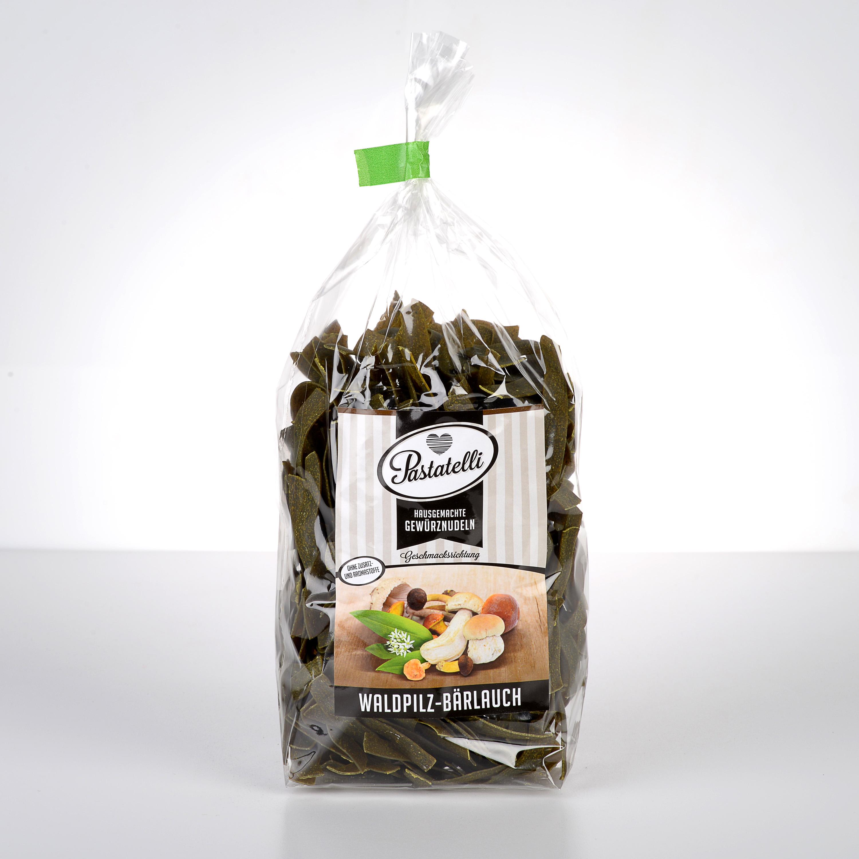 Verpackung Gewürznudeln Waldpilze-Bärlauch Pastatelli